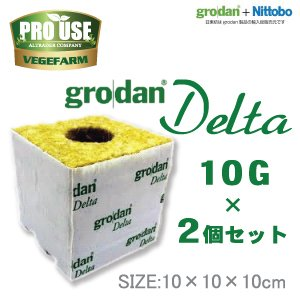 画像1: Grodan ロックウールブロック デルタ10G×2個セット 100×100×100mm グロダン DELTA 植物工場