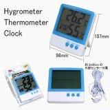 デジタル温室 温度&湿度計 外部端子付 時計機能付
