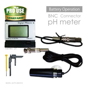 画像2: BNC 電極交換可能 pHメーター 0.00-14.00 ALTPH-BNC01B 電池式